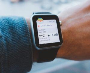 smartwatch boletos de viaje