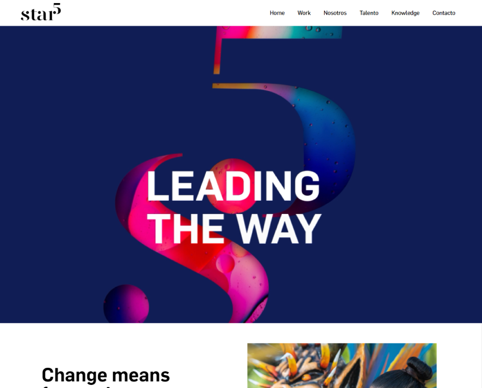 homepage de star5